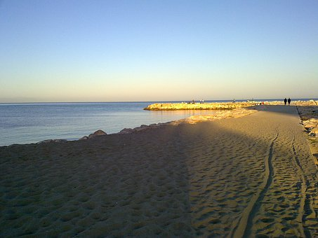 Sand, Port, Malaga, Fuengirola, Rock, Breakwater, Beach