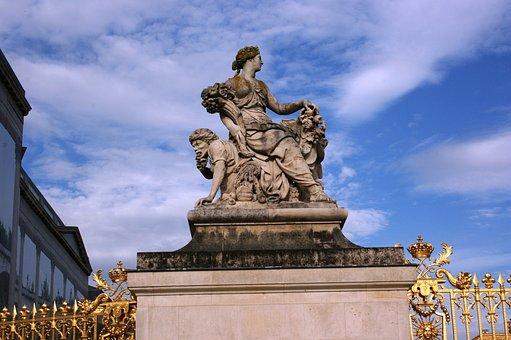 Palace Of Versailles, Versailles, Sculpture, France