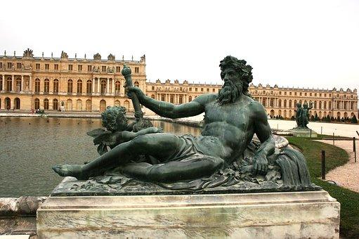 Palace Of Versailles, Versailles, Palace, Sculpture
