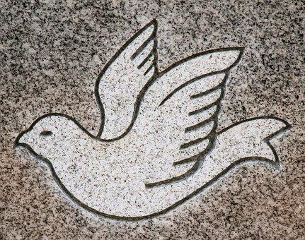 Carving, Bird, Animal, Headstone, Symbol, Detail