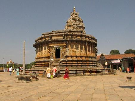 Temple, Shringeri, Karnataka, India, Architecture