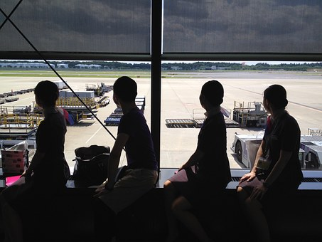 Cabin Attendant, Shadow, Airport