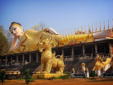 Buddha Statue, Sleep, Thailand