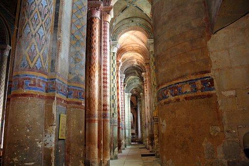 Polychrome Columns, Ornate Pillars, Church Pillars