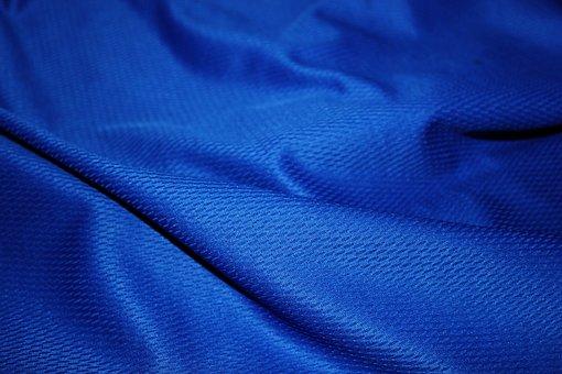 Blue Jersey, Jersey Cloth, Cloth, Clothing, Jersey