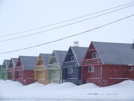 Houses, Examples, Snow, Colors, Norway