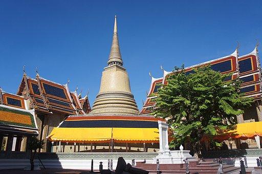 Thailand Temple, Pagoda, Krung Thaep