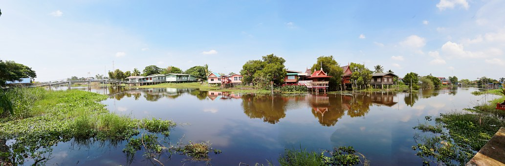 House, Rural, Countryside, Outdoors, Water, Environment