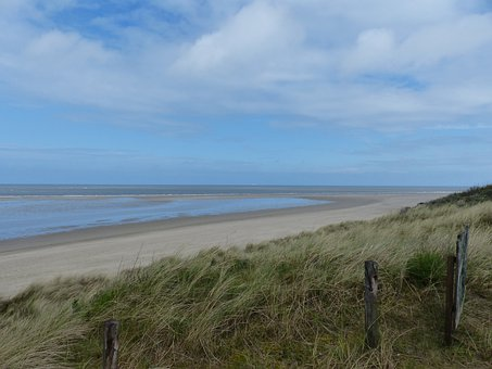 Coast, East Frisia, North Sea, Sea, Landscape, Blue