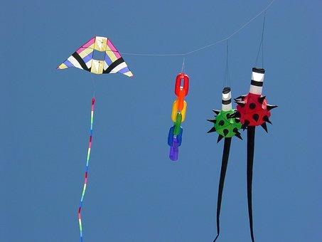Kites, Colorful, Sky, Summer, Summer Sky, Freedom