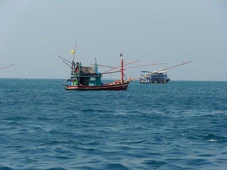Fisherman, Fishing Boats, Fishing Boat, Summer, Water
