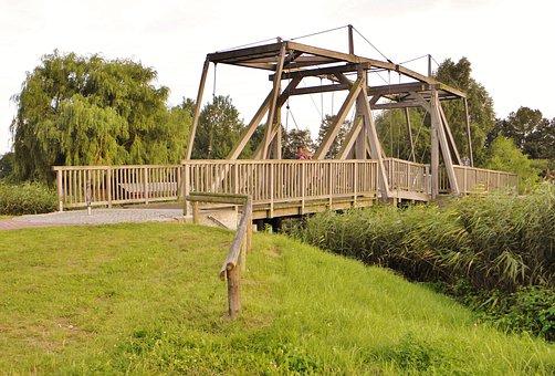 Drawbridge, Bridge, Wooden Bridge, Antique, Ueckermünde