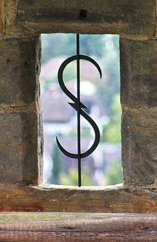 Window, Wall, Stone, Grid, Metal, Old, Building