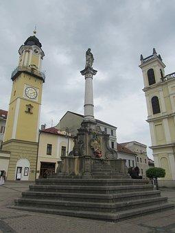 Banska Bystrica, Center, Slovakia, Buildings, Cloudy