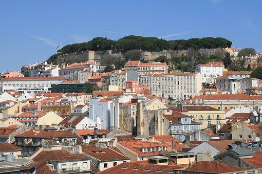 Castle, Low, Lisbon, Portugal