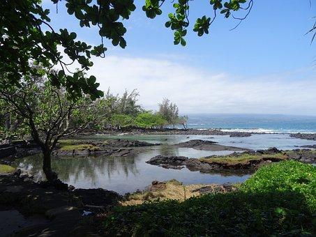Hawaii, Sea, Ocean, Big Iceland, Lava Beach, Coast