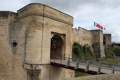 Castle, Caen, Drawbridge, Medieval, Gateway, Normandy