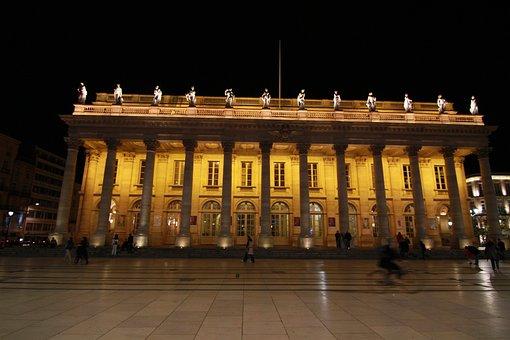 Building, Lit, Illuminated, Night, Urban, Exterior