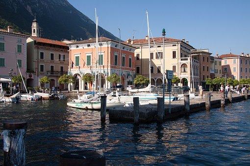 Gargnano, Garda, Port, Place, Houses, Marina, Ships