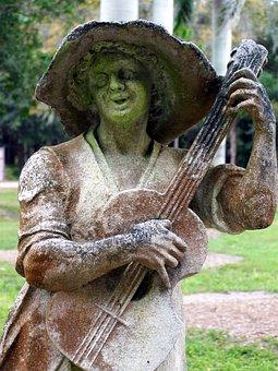 Moss, Statue, Garden, Ringling Museum, Sarasota