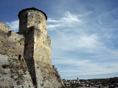 Tower, Castle, Fortress, Blue Sky, Kamyanets-podolsky