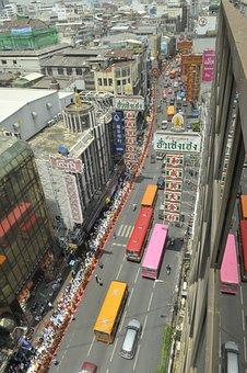 Bangkok, Thailand, City, Urban, Metropole, Asia, Street