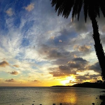 Sunset, Paradise, Island, Tropical, Sunny, Warm, Hawaii