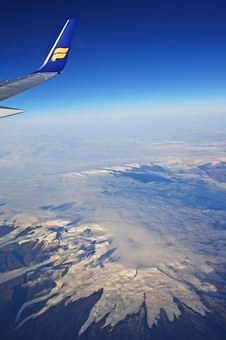 Iceland Air, Aircraft, Airline, Clouds, Glacier