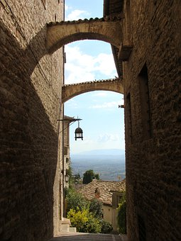 Sicily, Italy, Alley, Building, Stone, Sky, Arch, Old