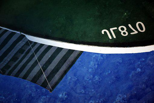 Reflection, Boat, Sea, Morning, Summer, Blue, Travel