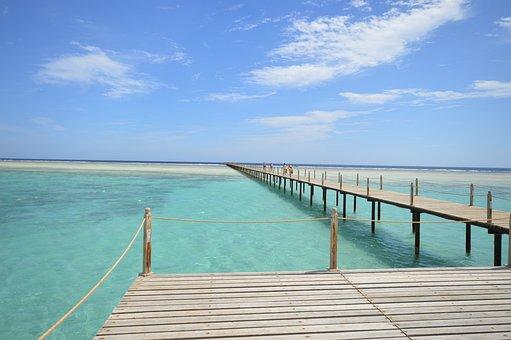 Ocean, Pier, Sea, Water, Travel, Summer, Sky, Beach