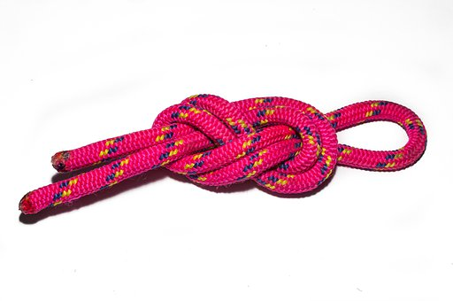 Eighth Node, Accessory Cord, Knot, Isolated