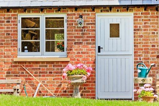 Architecture, Building, Cottage, Door, Doorway, English