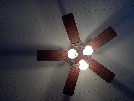 House, Panel, Ceiling, Fan, Light, Lighting