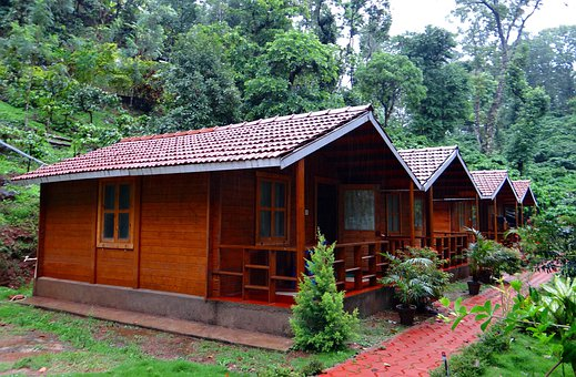 Log Huts, Wood Cabin, Homestay, Coffee, Estate