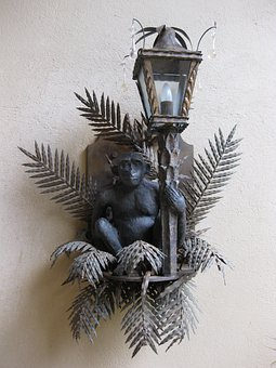 Monkey, Lamp, äffchen, Animal