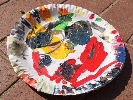 Color Palette, Paper Plate, Color, Mix, Colorful, Paint