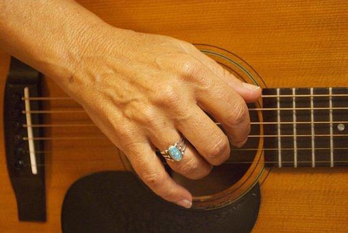 Guitar, Acoustic Guitar, Playing Guitar, Music
