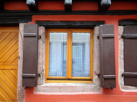 Window, Shutters, Mirroring, Truss, Picturesque