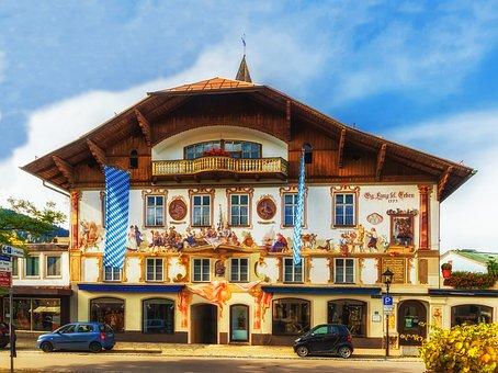 Oberammergau, Bavaria, Hotel, Restaurant, Architecture