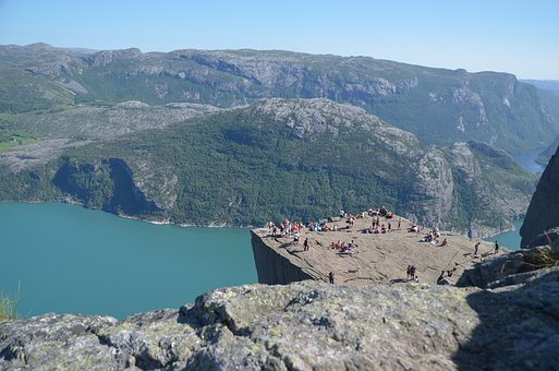 Predigtstuhl, Cliff, Norway, Fjord, Mountain, Nature