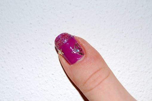 Nail, Decorated, Female, Finger, Rosa