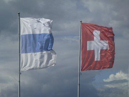Wind, Flag, Switzerland, Canton