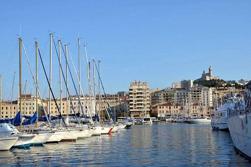 Marseille, Port, Our Lady Of The Guard