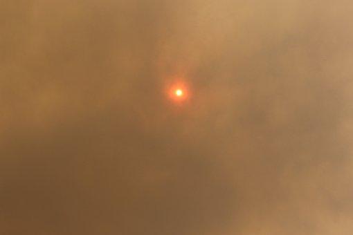Sun, Smoke, Bushfire, Weather, Cloudy, Nature, Power