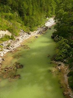 Steyrische Salza, River, Austria, Wild, Romantic