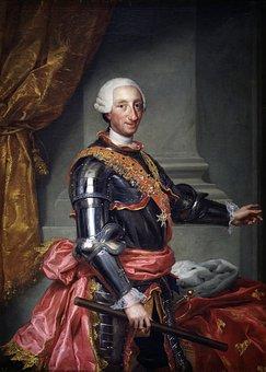 Karl Iii, King, Spain, 1761, Portrait, Man, Painting