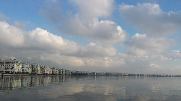 Thessaloniki, City, Sea, View, Water, Beautiful