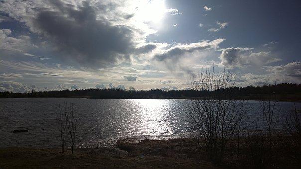 Sun, Clouds, Sunset, Sky, Blue, Blue Sky, Spring