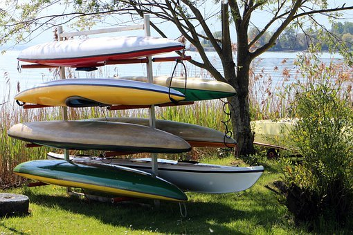 Storage, Boats, Canoeing, Store, Colorful
